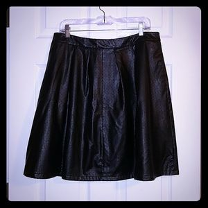 Leather like skirt